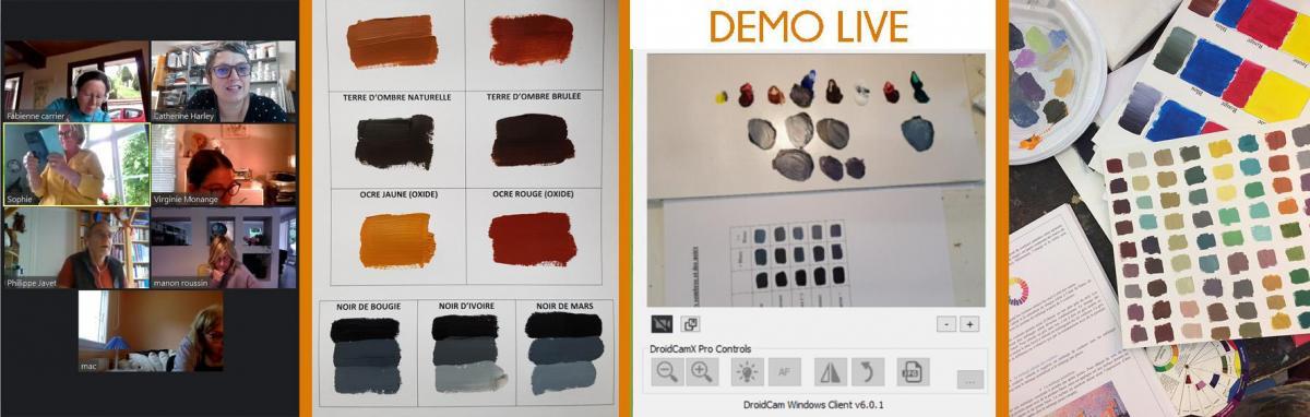 Bandeau stage couleur en ligne